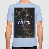 Greed Mens Fitted Tee Athletic Blue SMALL