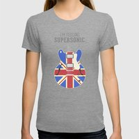 Supersonic Womens Fitted Tee Tri-Grey SMALL