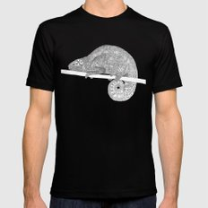 Green-Chameleon Black Mens Fitted Tee SMALL