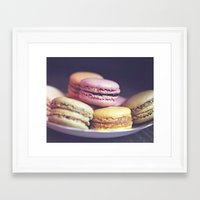 Macarons On The Windowsi… Framed Art Print