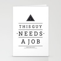 Need a Job Stationery Cards