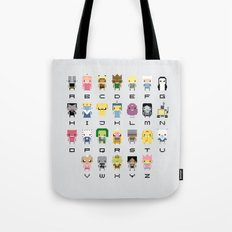 Ad Venture Time Alphabet Tote Bag