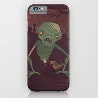 iPhone & iPod Case featuring Sickly Zombie by John Schwegel