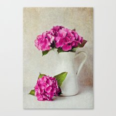 Vintage Textured Hydrangea Canvas Print