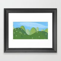 Rroling Hills Framed Art Print