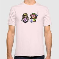 Zelda And Link Mens Fitted Tee Light Pink SMALL