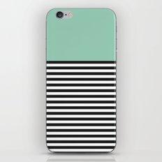 STRIPE COLORBLOCK {MUTED JADE} iPhone & iPod Skin