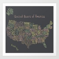 United Beers Of America Art Print