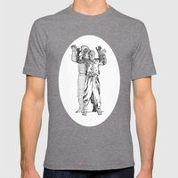 The Wolfman  Mens Fitted Tee Tri-Grey SMALL