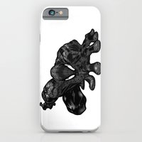 iPhone & iPod Case featuring Spiderman B&W by Fiona Bewsey