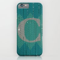 iPhone & iPod Case featuring Winter clothes. Letter C. by Studio Caravan