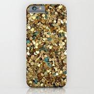 Gold Glitter iPhone 6 Slim Case