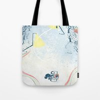 Winter Cycling Tote Bag
