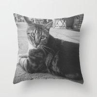 Street Kitty Throw Pillow