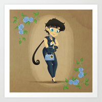 Retro Sailor Star Fighter Art Print