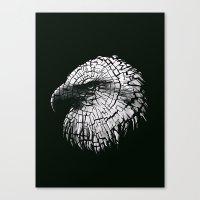 Bald Eagle (Cracked series) Canvas Print