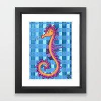 hippocampe 2x Framed Art Print