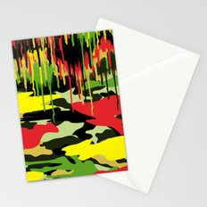 Camouflage pop Stationery Cards