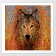 Art Print featuring Wolf  Abstract  by Lo Coco Agostino