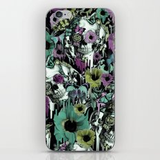 Mrs. Sandman, melting rose skull pattern iPhone & iPod Skin
