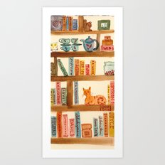 Bookshelf Art Print