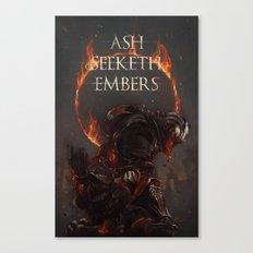 Ash Seeketh Embers Canvas Print