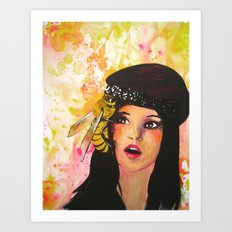 There's A Bee In My Bonnet! Art Print