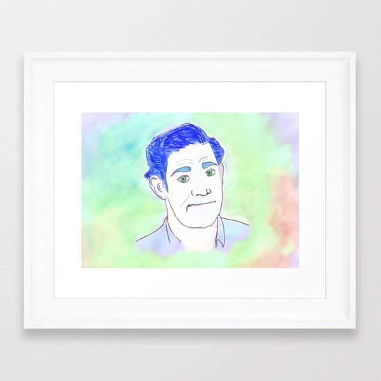 Jim Halpert Face.  Framed Art Print