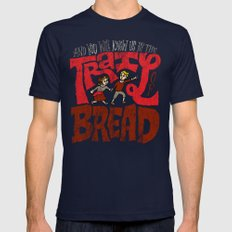 And You Will Know Us By The Trail Of Bread Mens Fitted Tee Navy SMALL