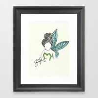 Tinkerbell Zen Tangle Framed Art Print