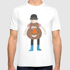 Mr Potato Head White SMALL Mens Fitted Tee