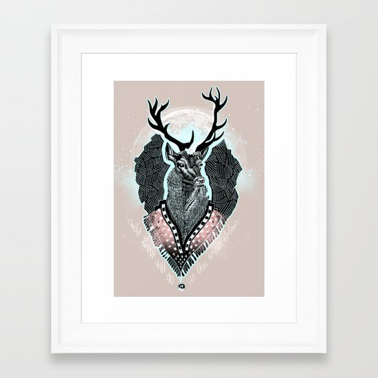 Wind:::Deer Framed Art Print
