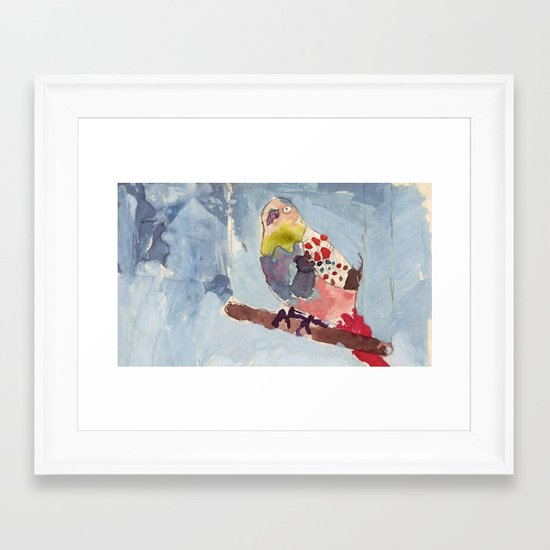 It's Raining, Birds are Singing Framed Art Print