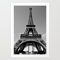 Tower Eiffel En Noir Art Print