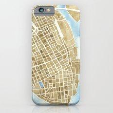 Charleston, South Carolina City Map Art Print iPhone 6 Slim Case