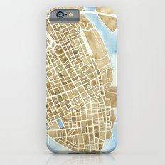 Charleston, South Carolina City Map Art Print iPhone 6 Slim Case