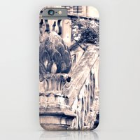 iPhone Cases featuring Balustrade Blue by Aridette