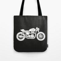 Triumph Bonneville - Cafe Racer series #3 Tote Bag
