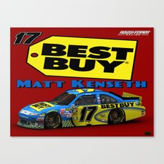 Matt Kenseth Best Buy design by @ernhrtfan Canvas Print