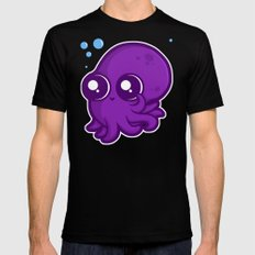 Super Cute Squid Black SMALL Mens Fitted Tee