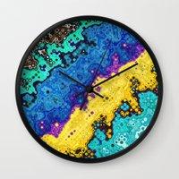 Macro Molecules of Color Wall Clock