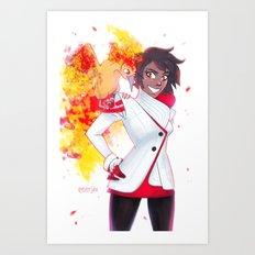 Valor - Candela Art Print