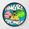 Angry Spongebird - Angry Birds vs SpongeBob Wall Clock