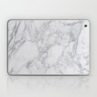 Laptop & iPad Skin featuring White Marble by Sarah R Bock