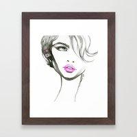 One Eyed Girl Framed Art Print