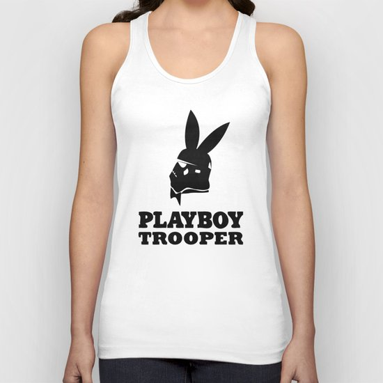 playboy trooper  Unisex Tank Top