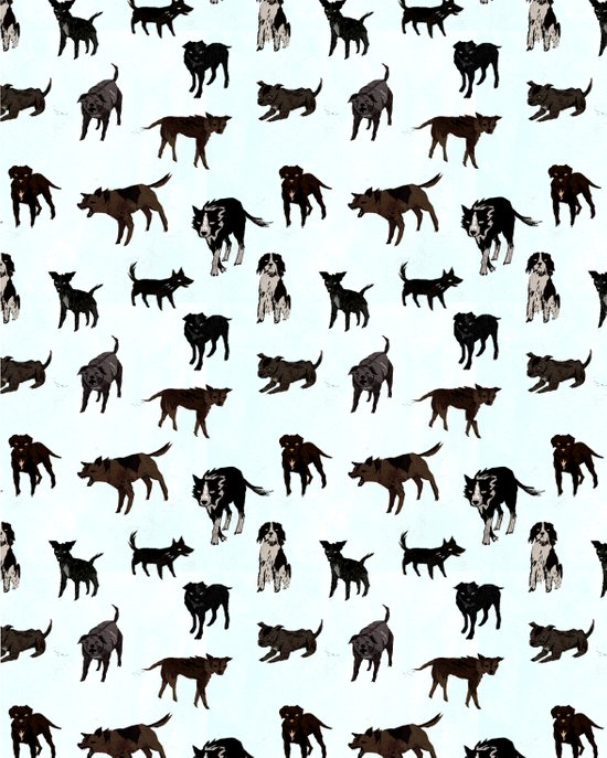 Dog pattern Art Print