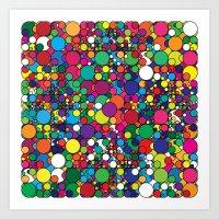 Covalent Geometric Art Print. Art Print
