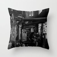 Old Factory 2 Throw Pillow