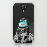 Galaxy S4 Cases featuring Underwater astronaut by Budi Kwan